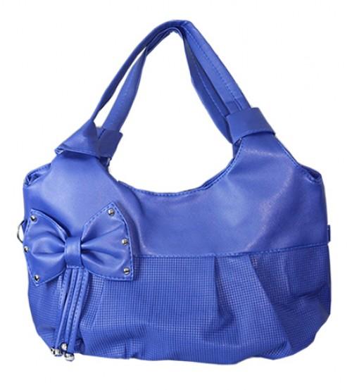 Blue Bow Ladies Bag