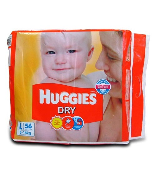 Huggies Dry New L 56s(8-14kg)