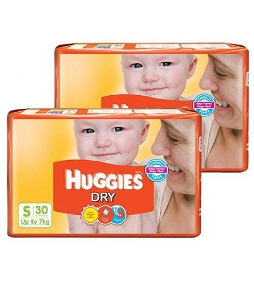 Huggies Dry New S 30s (Up to 7 Kg)