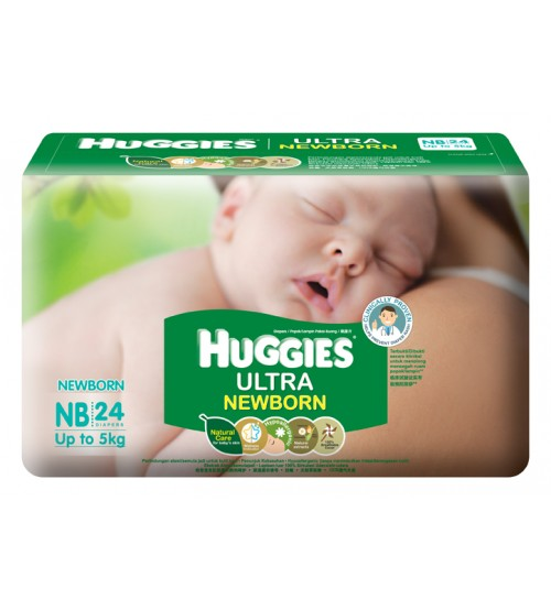 Huggies Ultra NB 24s(Up to 4kg)